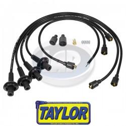 Spark Plug Wires, 8mm Spiral Core, Black, Silicone