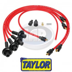 Spark Plug Wires, 8mm Spiral Core, Red, Silicone