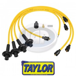 Spark Plug Wires, 8mm Spiral Core, Yellow, Silicone