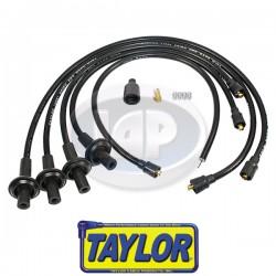 Spark Plug Wires, 10.4mm Spiro-Pro, Black, Silicone