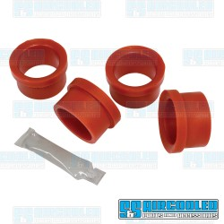 Axle Beam Bushings, Upper & Lower, Outer, Urethane, Red