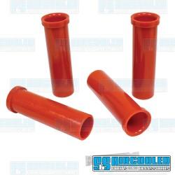 Axle Beam Bushings, Upper & Lower, Inner & Outer, Urethane, Red