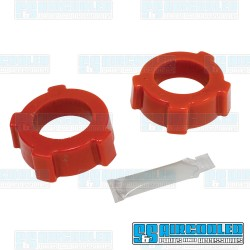 Spring Plate Bushings, 1-3/4in I.D., Knobby, Urethane, Red