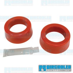 Spring Plate Bushings, 1-7/8in I.D., Round, Urethane, Red