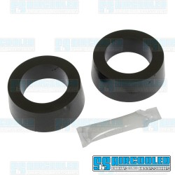 Spring Plate Bushings, 1-7/8in I.D., Round, Urethane, Black