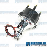 Distributor, Billet, Centrifugal Advance w/Ignitor II Electronic Points, Black Cap