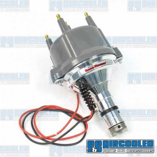 PerTronix Distributor, Billet, Centrifugal Advance w/Ignitor II Electronic Points, Grey Cap
