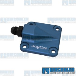 Oil Pump Cover, 8mm Studs, Full Flow Style, Billet Aluminum, Blue