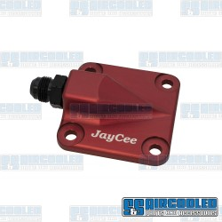 Oil Pump Cover, 8mm Studs, Full Flow Style, Billet Aluminum, Red