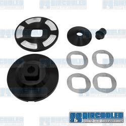 Alternator/Generator Pulley, Billet, Black