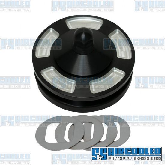 JayCee Enterprises Alternator/Generator Pulley, Billet, Black