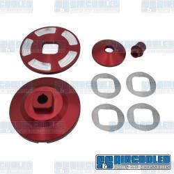 Alternator/Generator Pulley, Billet, Red