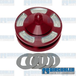 Alternator/Generator Pulley, Billet, Red