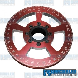 Crankshaft Pulley, 7in, Billet Aluminum, Red
