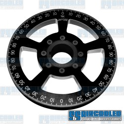 Crankshaft Pulley, 7in, Billet Aluminum, Black