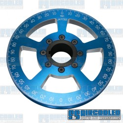 Crankshaft Pulley, 7in, Billet Aluminum, Blue