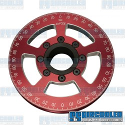 Crankshaft Pulley, 6in, Billet Aluminum, Red