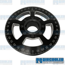 Crankshaft Pulley, 6in, Billet Aluminum, Black
