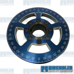 Crankshaft Pulley, 6in, Billet Aluminum, Blue