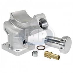 Stand, Alternator or Generator, Billet Aluminum, Silver