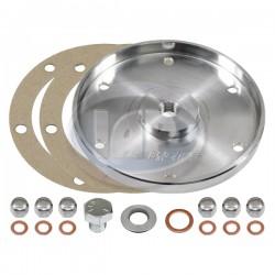 Sump Plate, Billet Aluminum, Silver