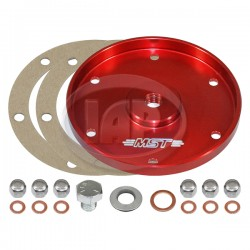 Sump Plate, Billet Aluminum, Red