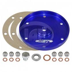 Sump Plate, Billet Aluminum, Blue