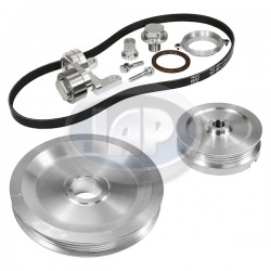 Serpentine Pulley Kit, The Original, Sand Seal, Silver