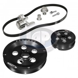 Serpentine Pulley Kit, Matador, Black