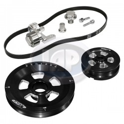 Serpentine Pulley Kit, Renegade, Black