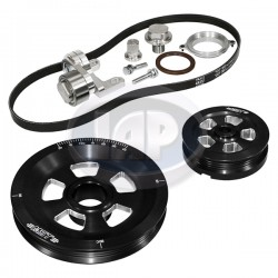 Serpentine Pulley Kit, Renegade, Sand Seal, Black