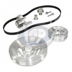 Serpentine Pulley Kit, Raptor, Silver