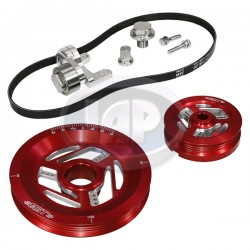 Serpentine Pulley Kit, Raptor, Red