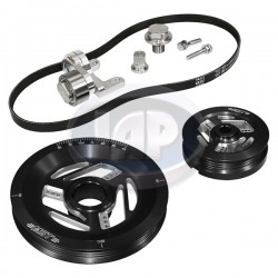 Serpentine Pulley Kit, Raptor, Black