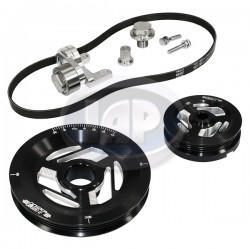 Serpentine Pulley Kit, Excalibur, Black