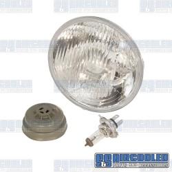 Headlight, H4, 12 Volt 55/60W, Convex Lens, 7in. Diameter