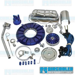 Engine Dress-Up Kit, Deluxe, Blue/Chrome