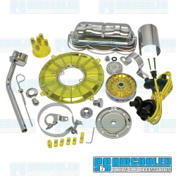 Engine Dress-Up Kit, Deluxe, Yellow/Chrome
