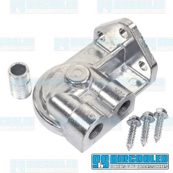 Oil Filter Adapter, 3/8in Right Ports, EMPI