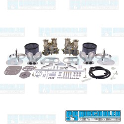 Carburetor Kit, 40mm IDF, Dual, Hexbar Style Linkage w/Air Cleaners, Weber