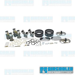 Carburetor Kit, 51mm EPC, Dual, Short Manifolds, Twist Style Linkage w/Air Cleaners, EMPI