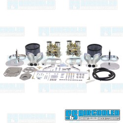 Carburetor Kit, 40mm HPMX, Dual, Hexbar Style Linkage w/Air Cleaners