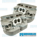 Cylinder Heads, 42x37.5mm, 90.5/92mm, Dual Springs, L6 CNC Ported, EMPI