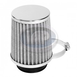 Air Cleaner Assembly, 2in Inlet, Paper, Chrome