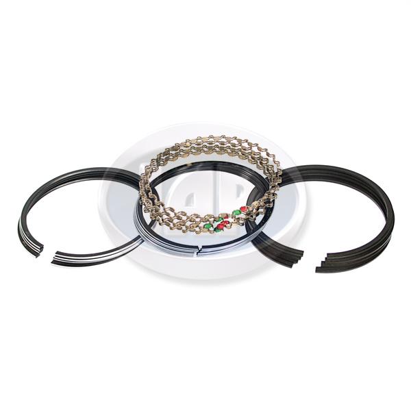 Piston Ring Set, 90.5mm (1.5mm x 2mm x 4mm), Chrome Top Ring, Grant Piston Rings