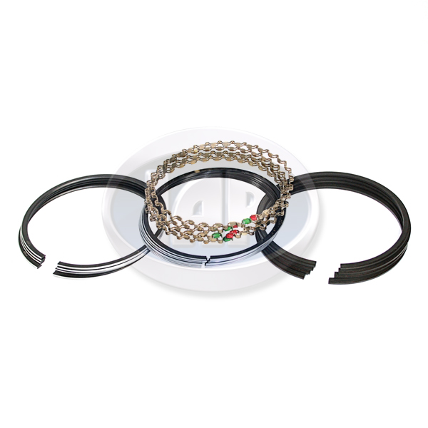 Piston Ring Set, 92mm (2mm x 2mm x 4mm), Chrome Top Ring, Grant Piston Rings