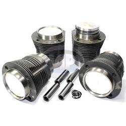 Piston & Cylinder Set, 77 x 64mm, Cast, 36hp