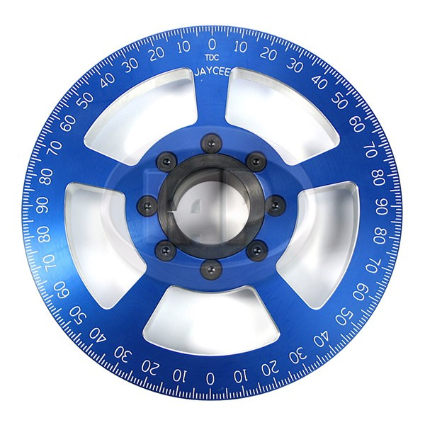 Crankshaft Pulley, 7in, Billet Aluminum, Blue, JayCee