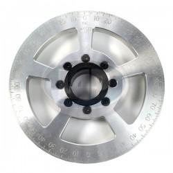 Crankshaft Pulley, 7in, Billet Aluminum, Silver, JayCee