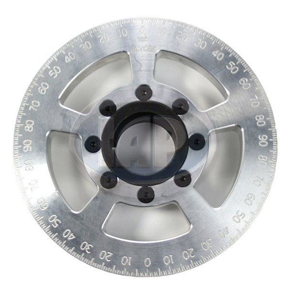 Crankshaft Pulley, 6in, Billet Aluminum, Silver, JayCee
